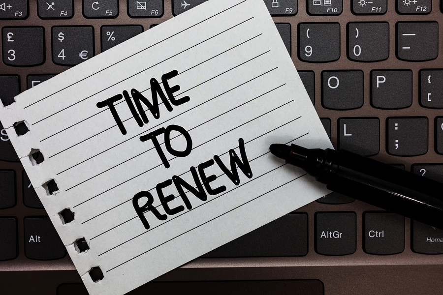 note reminder to renew domains