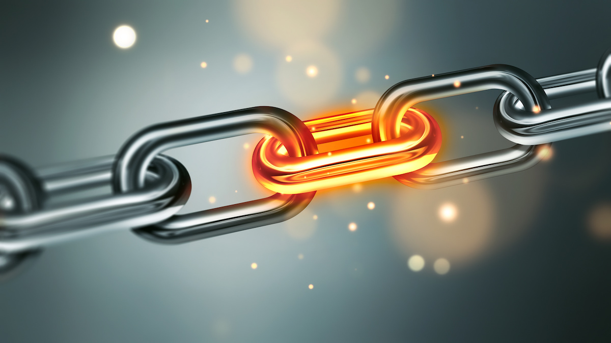 chain with glowing link