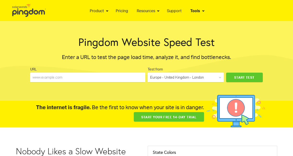 pingdom screenshot