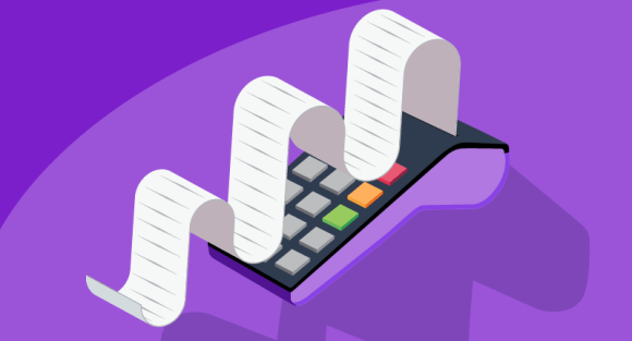 Adding machine tape calculating domain purchases