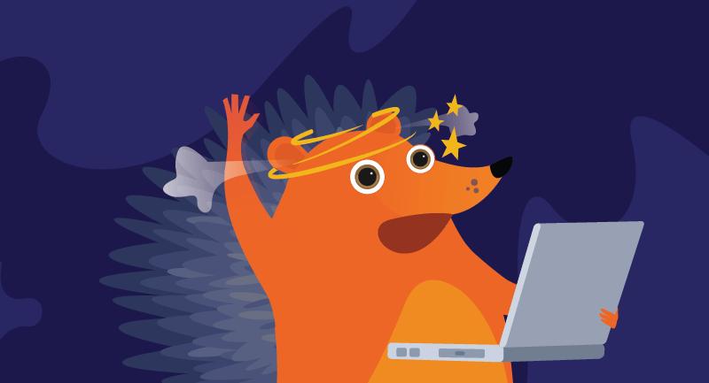 Hedgehog's head spinning from overwork