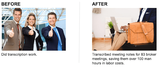 before and after images of portfolio image