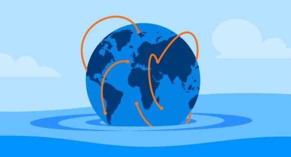 globe showing international networks