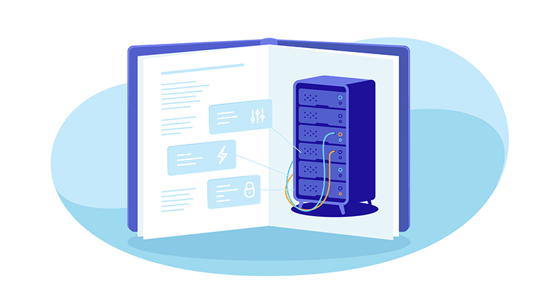 dedicated server in a book