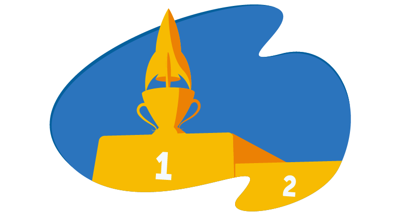 trophy for first place