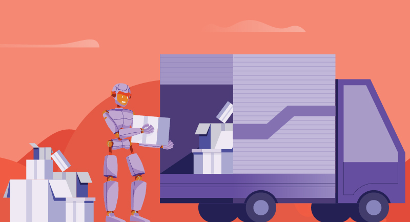 Robot loading truck