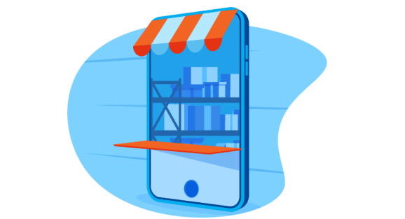 Storefront on a mobile device