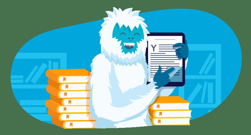 Yeti with ebook
