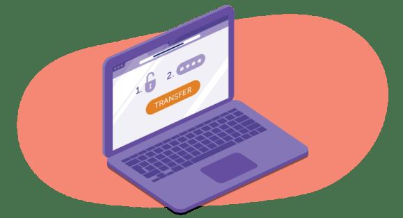 domain transfer on laptop