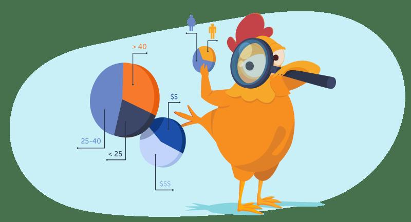 chicken researching niche market