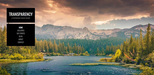 An example of the Photocrati photography theme for WordPress featuring a landscape image