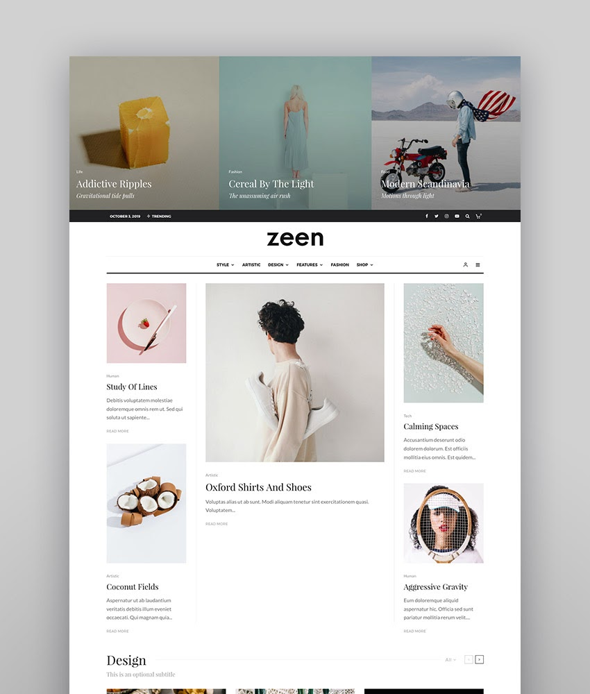 zeen WordPress magazine theme