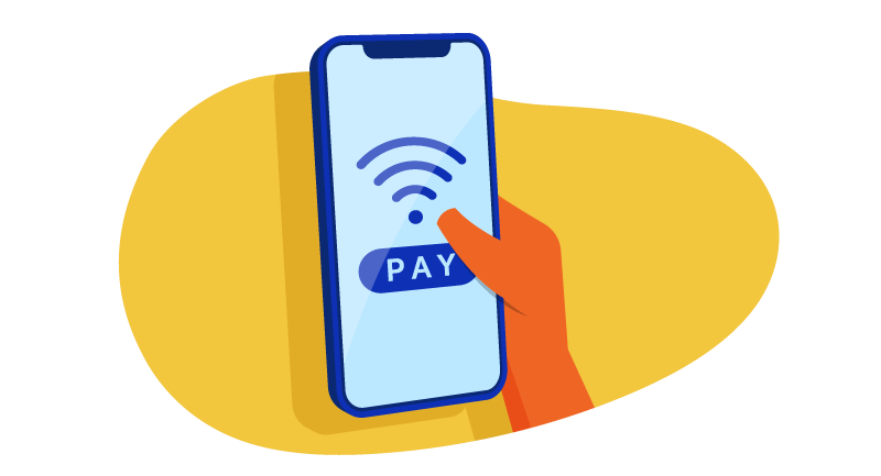 mobile phone with Apple pay