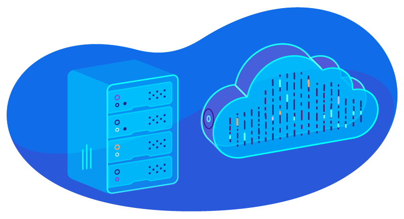 cloud hosting with a server