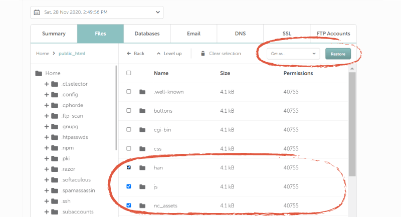 screenshot of files in AutoBackup