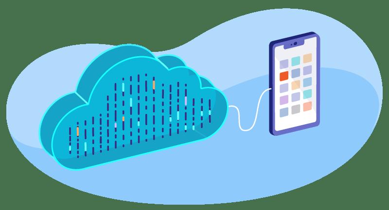 illustration of cloud hosting
