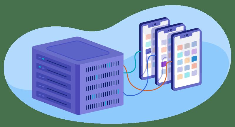 illustration of shared hosting