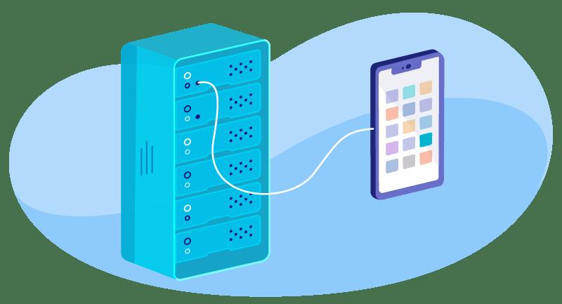 illustration of VPS hosting