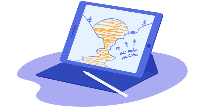 creating art on a tablet