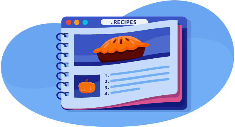A card with a .recipe on it