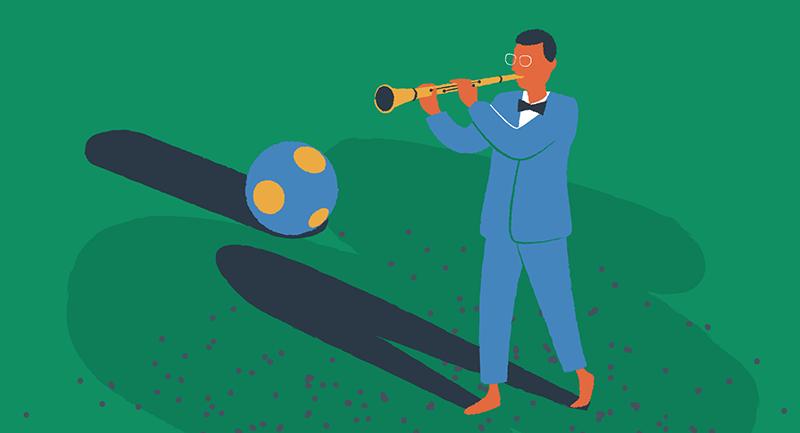 Illustration of Benny Goodman