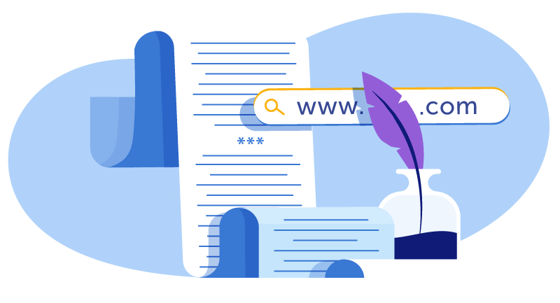 quill writing down rhyming domain name ideas