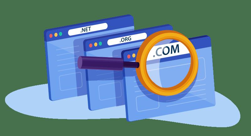 looking at .com domains
