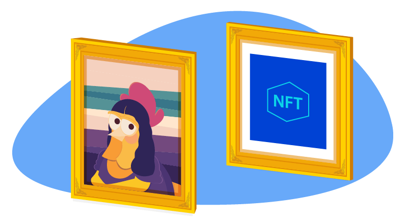 Mona Lisa Chicken painting vs NFT