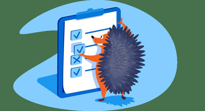 hedgehog adding check box to a list