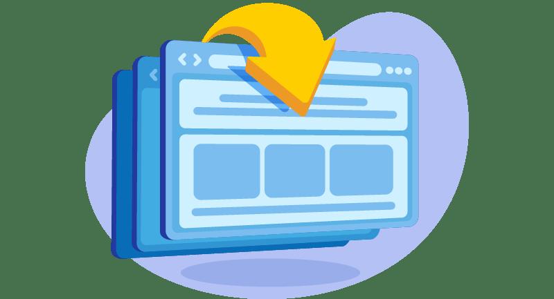 illustration depicting website rankings