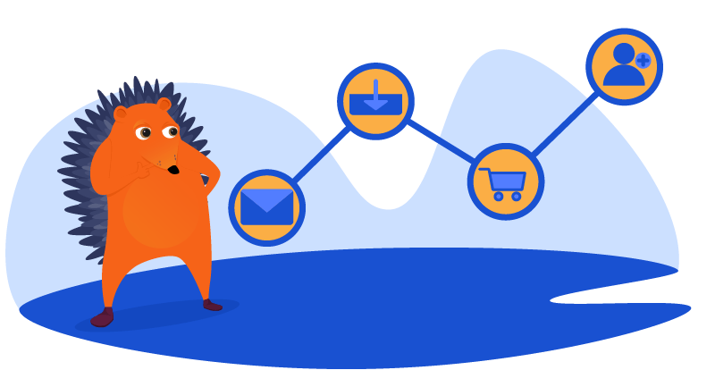 Hedgehog comparing different traffic sources