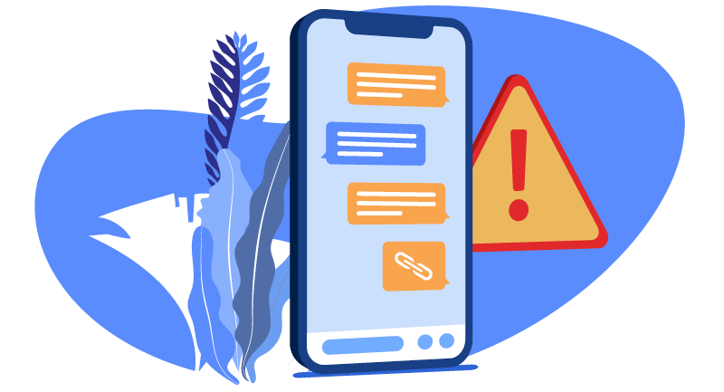 smishing text expressing urgency