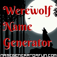 Get your own werewolf name from the werewolf name generator!