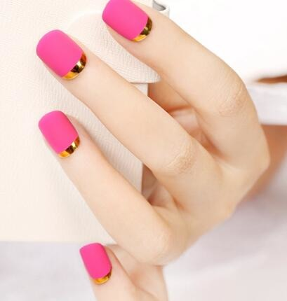 How to use nail French stickers