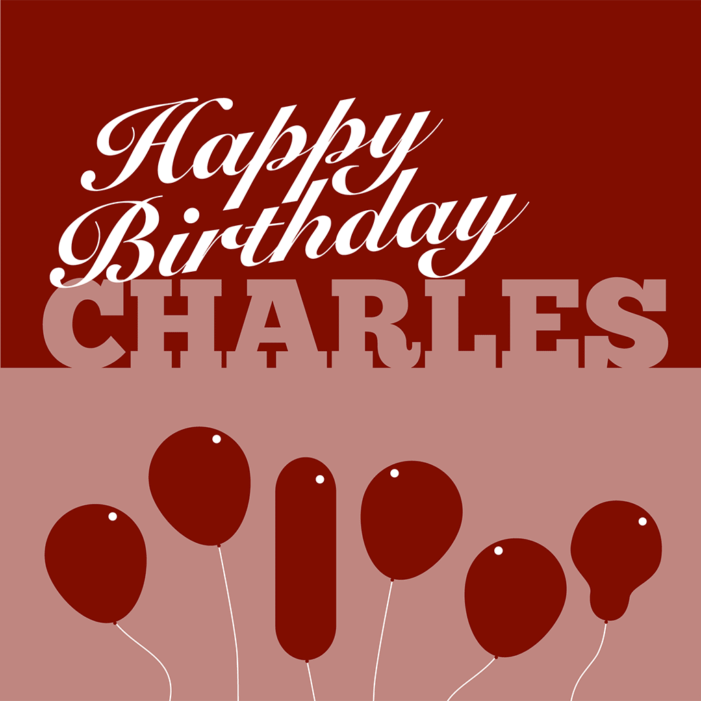 Unique Personalised Birthday Card For Charles