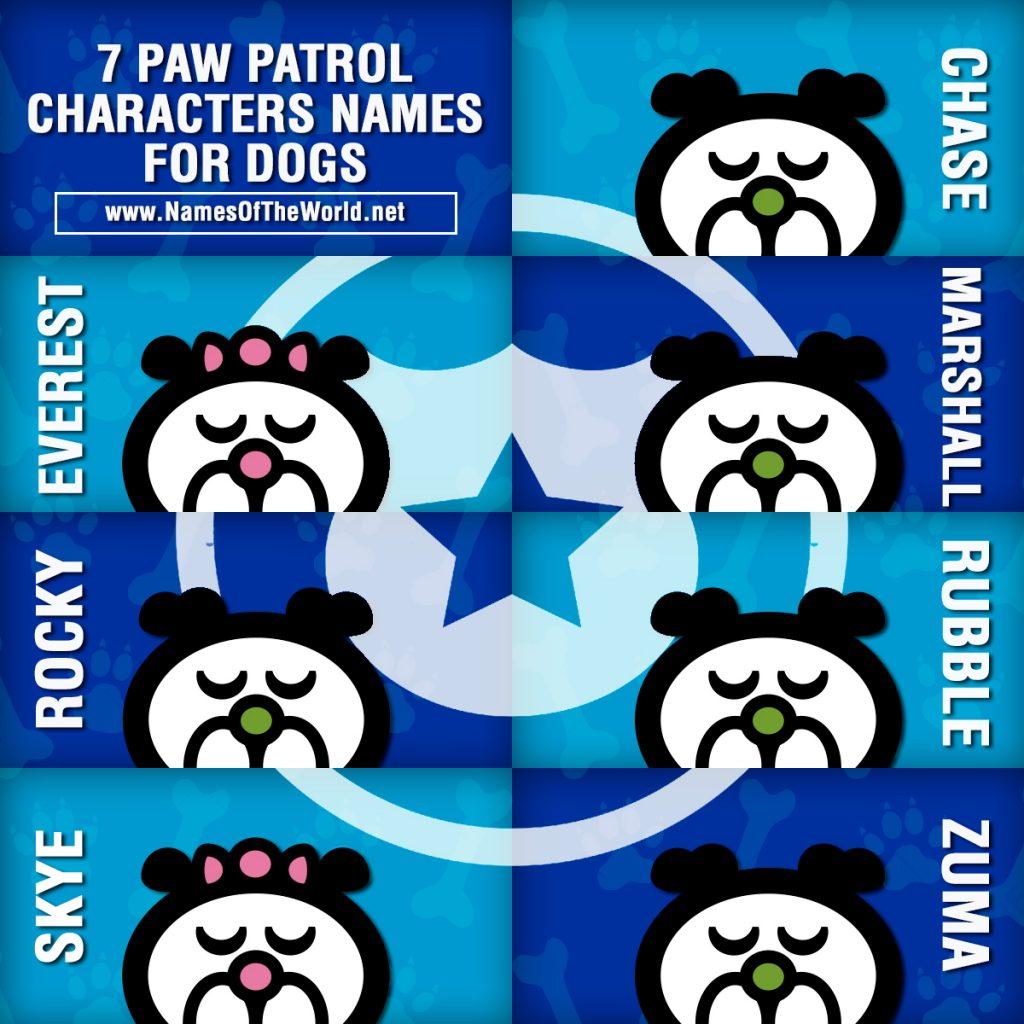 Paw Patrol Dog Names