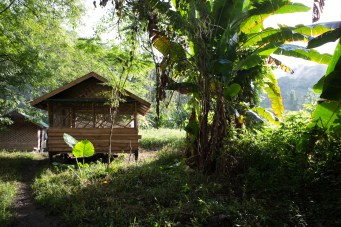 Bungalows on the banks of the Nam Nern