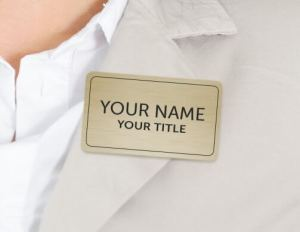 Magnetic Name Badge on Shirt