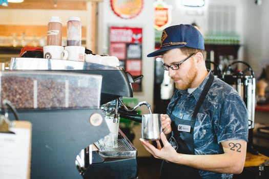 Barista with Name Tag