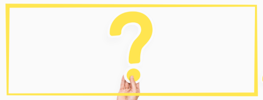 Woman Holding Yellow Question Mark Against White Background with Yellow Border