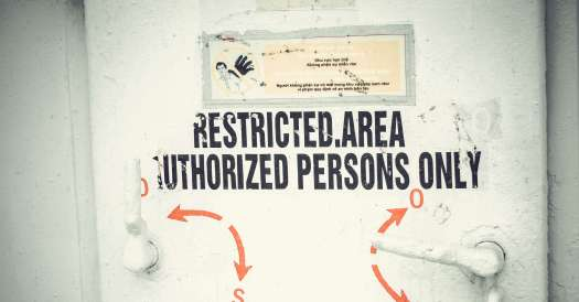 White Restricted Area Authorized Persons Only Door