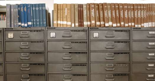 Old Filing Cabinets and Index Books
