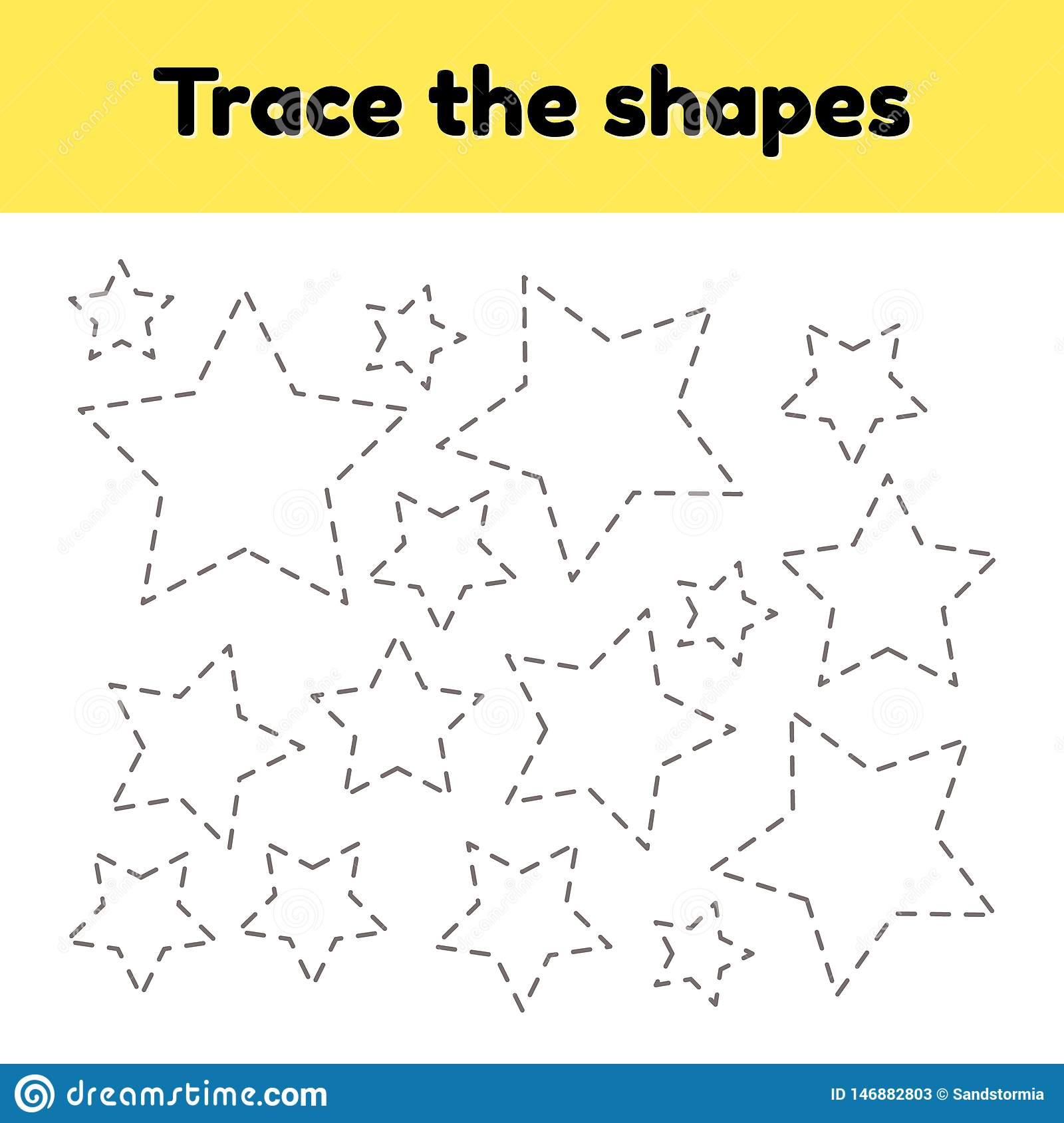 Preschool Star Tracing Worksheet