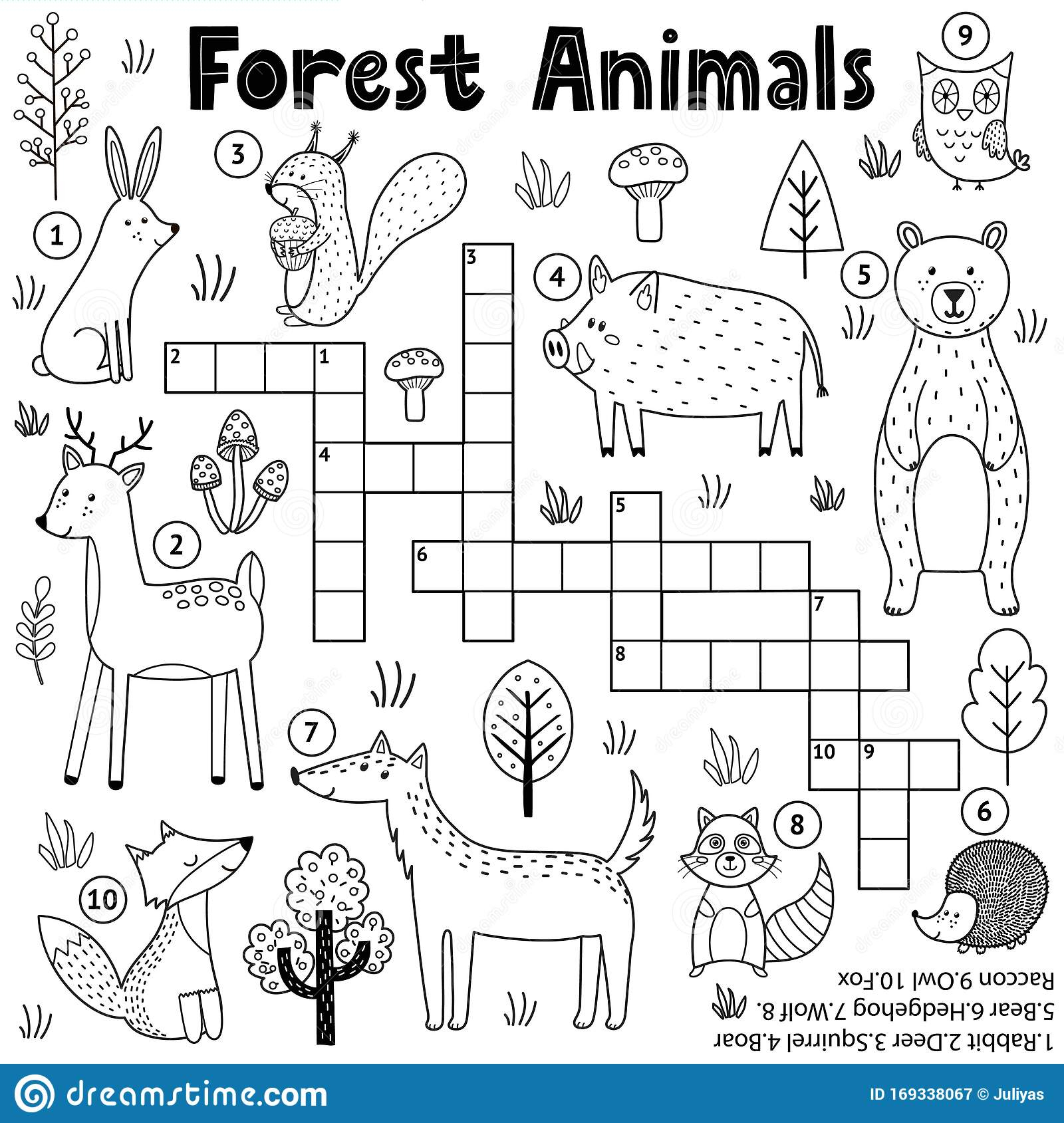 Worksheet Forest Animal Tracing