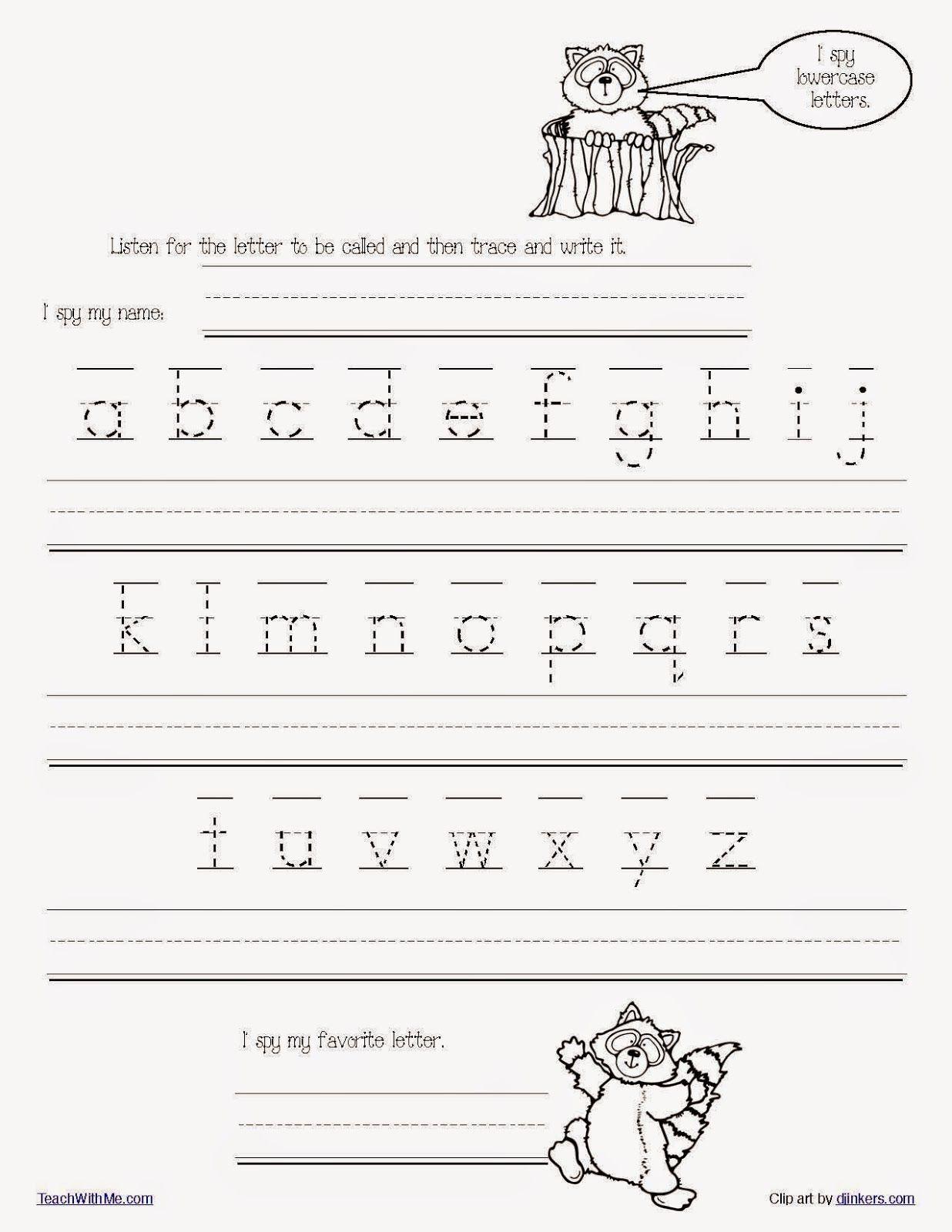 Free Printable Tracing Words Worksheets