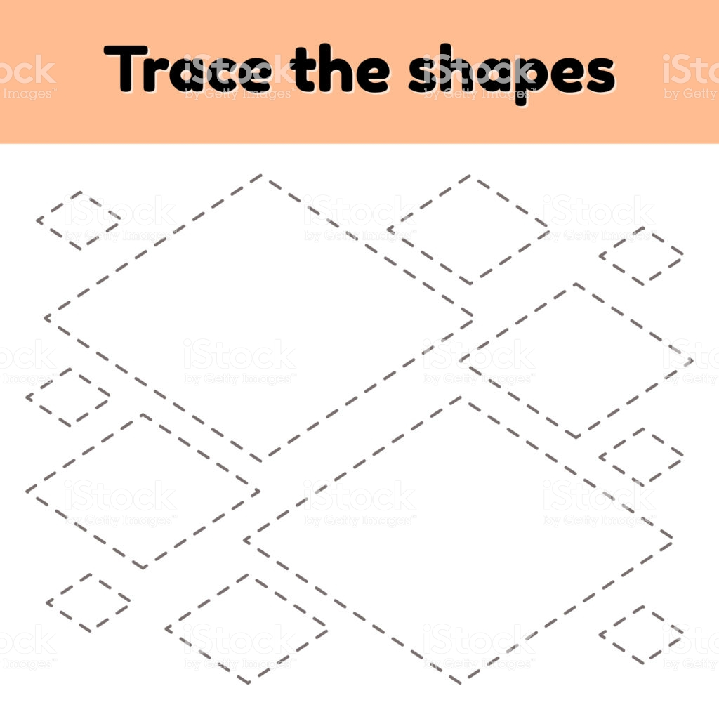 Rhombus Tracing Worksheet