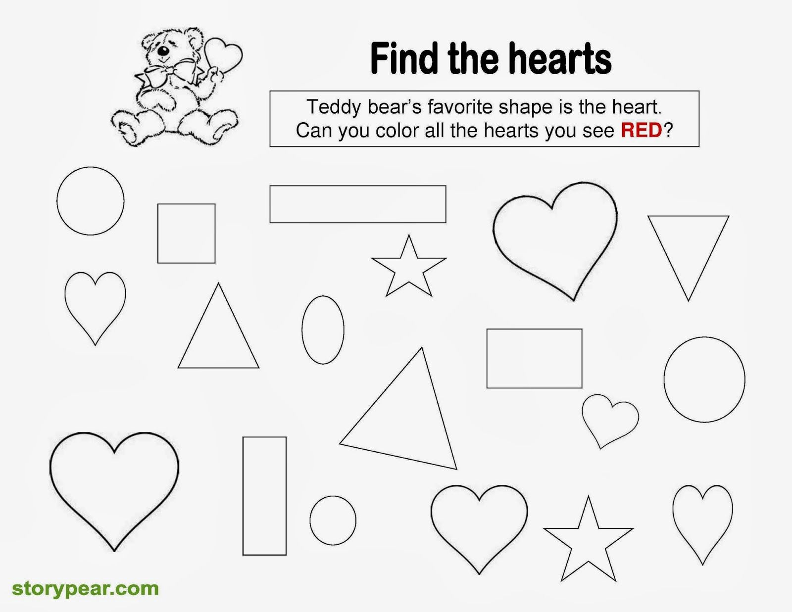 Valentines Day Tracing Worksheets For Preschoolers
