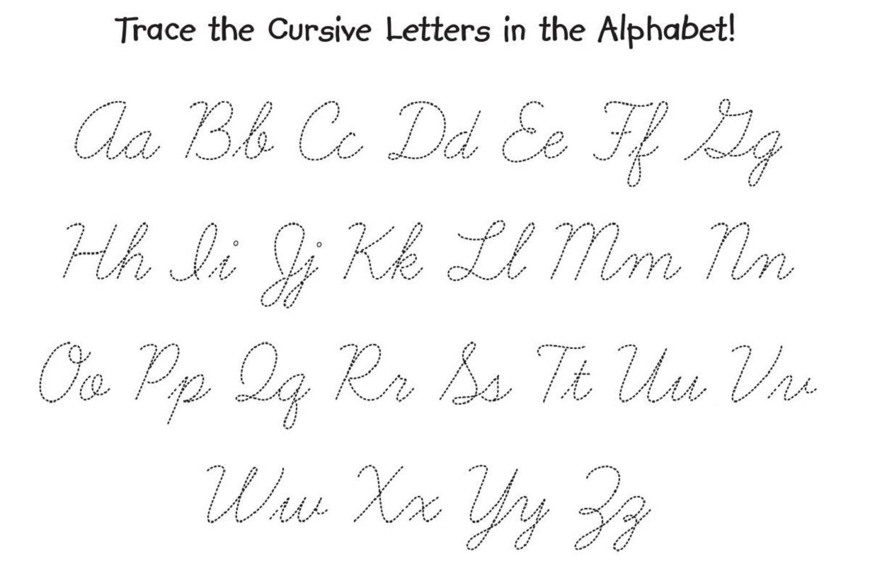 Calligraphy Alphabet Cursive Tracing Worksheets