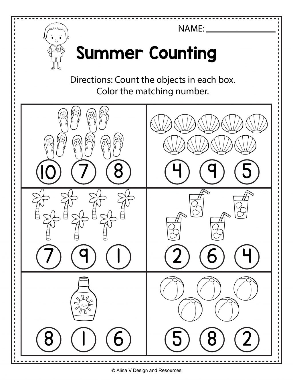 Free Tracing Worksheets Summer