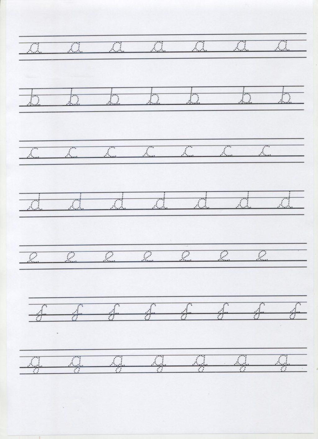 Calligraphy Alphabet Cursive Tracing Worksheets